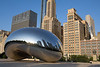 "Chicago Highlights : Chicago's crown jewel is Millennium Park, built above Illinois Central Railroad tracks between the lakefront and Michigan Avenue north of Grant Park, opened in 2004.  Highlights include Cloud Gate, the polished metal sculpture also known as ""The Bean"".  The Jay Pritzker Pavillion, a band shell designed by Frank Gehrey.  Crown Fountain, two 50 foot towers that project faces of 1000 Chicago residents, one at a time, on embedded LED video screens.  Lurie Garden, located south of Pritzker Pavillion.  Wrigley Square with the Millennium Monument. And Nichols Bridgeway leading to the Modern Wing of the Art Institute. While Millenium Park is the subject of many of the images in this gallery, other images include details from the Chicago Cultural Center, famous landmarks, and classic skylines.  The Cultural Center, the old Chicago Public Library, showcases the magnificent Tiffany Dome, as well as jewel-like Tiffany mosaics."
